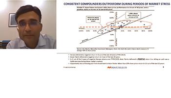 Consistent Compounders outperform in a market crash | Rakshit Ranjan | Marcellus | PMS